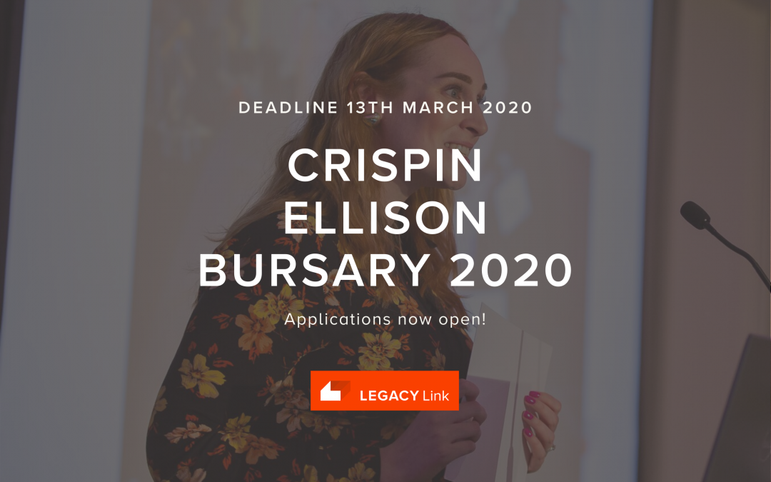 Crispin Ellison bursary – apply now!